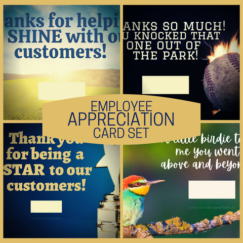 Employee Appreciation Card Set