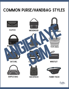 Purse Styles | Women's Sizing Cards