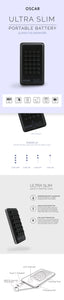 Kokiri 10000mAh Portable Battery in Black with Integrated Cable