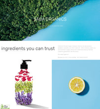 Load image into Gallery viewer, saba organic ingredients you can trust ACO certified