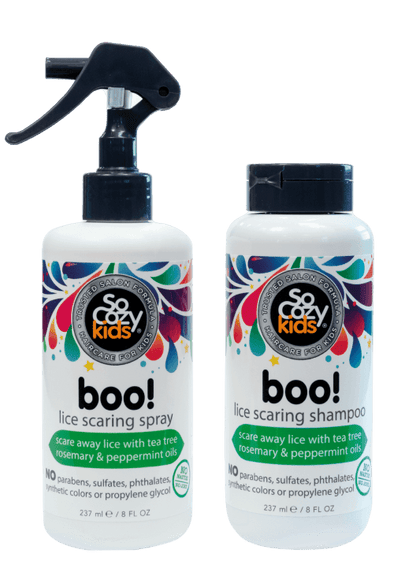 Twin-Pack - Boo! Lice Scaring Spray + Shampoo
