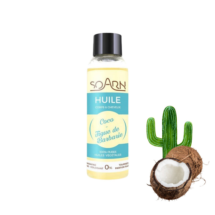 Huile Végétale 100% pure de Coco/ Figue de Barbarie | Soarn - POP MY CURLS PARIS