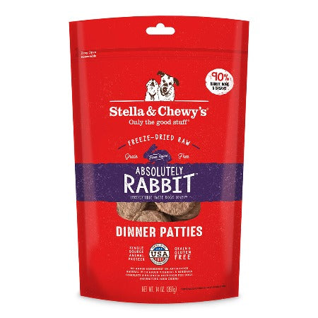 Absolutely Rabbit Freeze-Dried Raw Dinner Patties 14 oz