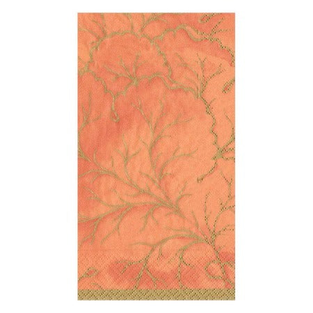 Gilded Majolica Paper Guest Towel Napkins in Orange - 15 Per Package