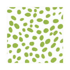Spots Paper Linen Luncheon Napkins in Green - 15 Per Package