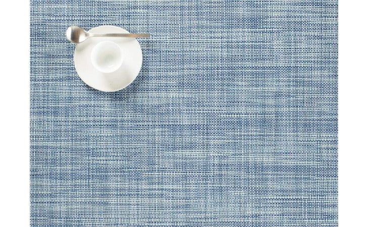 Chilewich Mini Basketweave Rectangle Table Mat Chambray