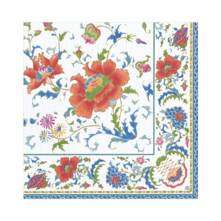 Chinese Ceramic Paper Luncheon Napkins in White - 20 Per Package