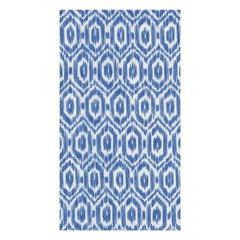 Amala Ikat Paper Guest Towel Napkins in Blue - 15 Per Package