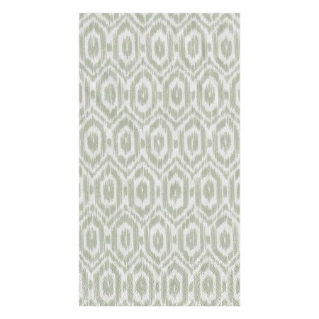 Amala Ikat Paper Guest Towel Napkins in Grey - 15 Per Package