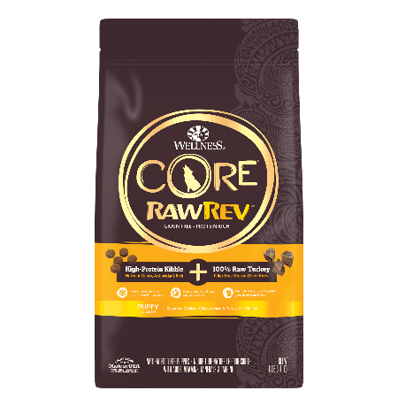 Wellness CORE RawRev Grain Free Puppy + Freeze Dried Turkey 4 lb