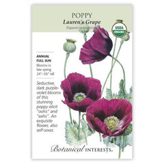 Poppy Lauren's Grape Organic
