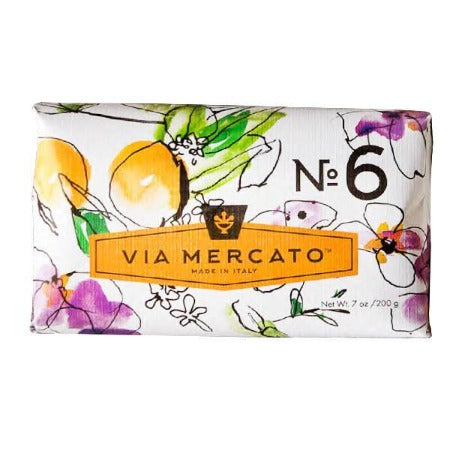 Via Mercato No 6 Soap - Fig, Orange Blossom & Cedarwood