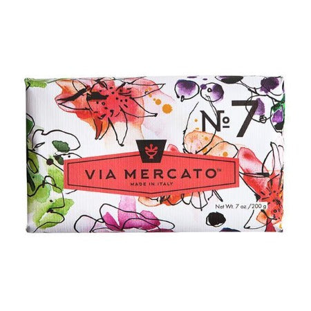 Via Mercato No 7 Soap - Peach, Fig Blossom & Rose