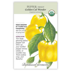 Pepper Sweet Cal Wonder Golden Organic