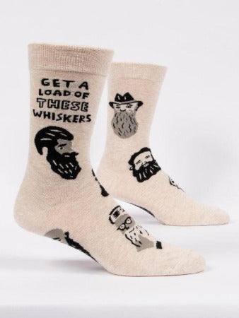 Get A Load Of These Whiskers Men's Crew Socks