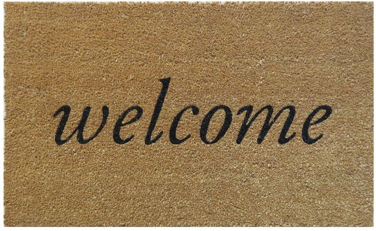 "Welcome Coir Doormat 18"" x 30"""