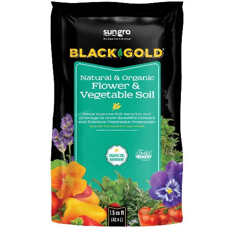 Black Gold® Natural & Organic Flower and Vegetable Soil 1.5 cu ft