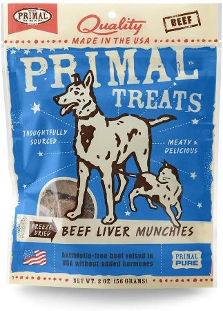 Primal Treats Beef Liver Munchies 2 oz