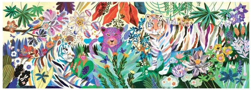 Rainbow Tigers Gallery Large Jigsaw Puzzle