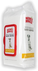 Nature's Miracle Deodarizing Bath Wipes for Dogs Honey Sage 100 ct