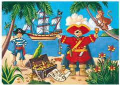 Pirate and his Treasure Silhouette Jigsaw Puzzle