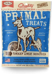 Primal Treats Turkey Liver Munchies 2 oz