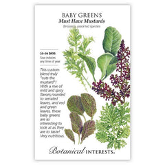Baby Greens Must Have Mustards