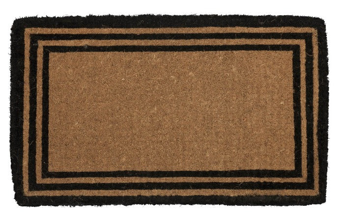 "The One with the Border Extra Thick Handwoven Coconut Fiber Doormat 18"" x 30"""