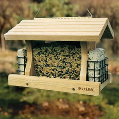 WoodLink Deluxe Cedar Feeder with Suet Cages