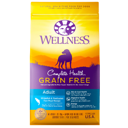 Wellness Complete Health Grain Free Whitefish & Menhaden Fish Meal Recipe 24 lb