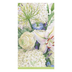 White Blooms Paper Guest Towel Napkins - 15 Per Package