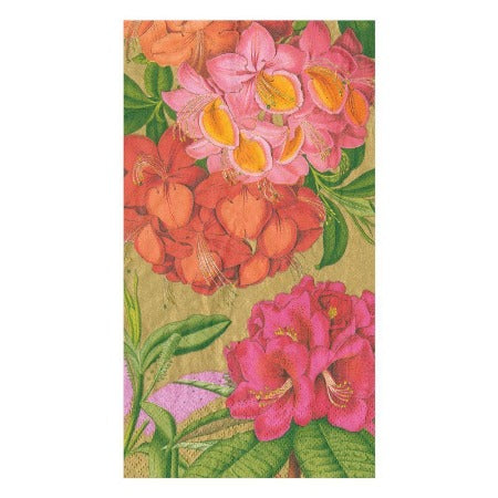 Jefferson's Garden Study Paper Guest Towel Napkins in Gold - 15 Per Package