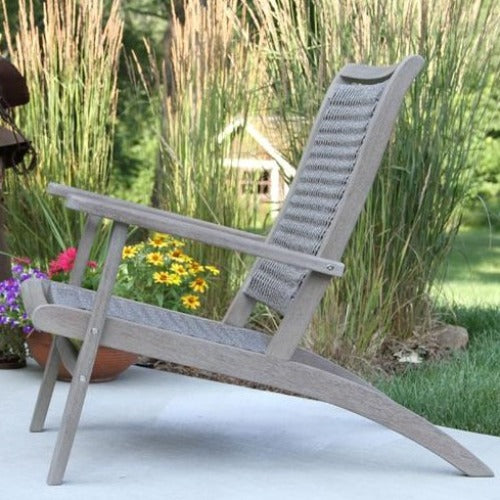 Grey Wash Eucalyptus Lounger