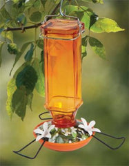 Vintage Glass Oriole Feeder