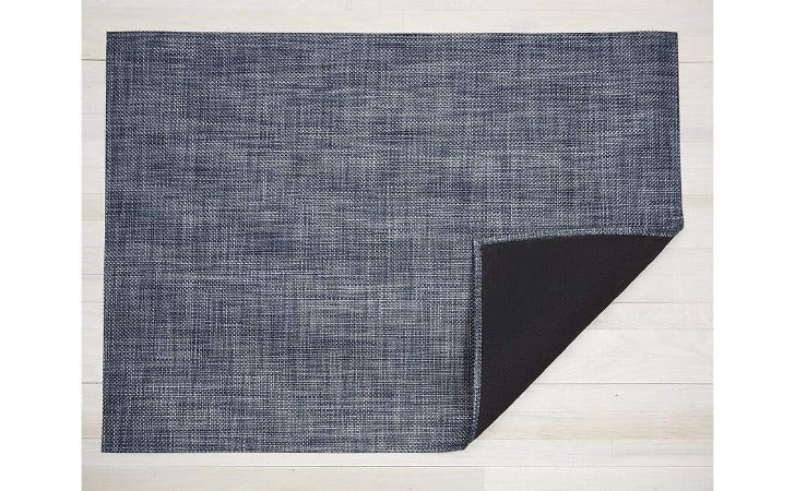 Chilewich Basketweave Floor Mat Denim