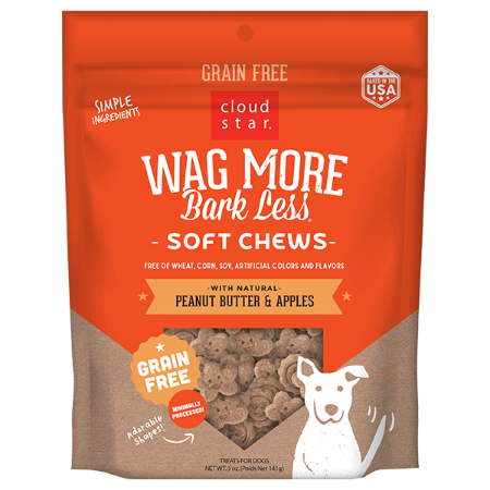 Wag More Soft Chews Peanut Butter & Apples 5 oz