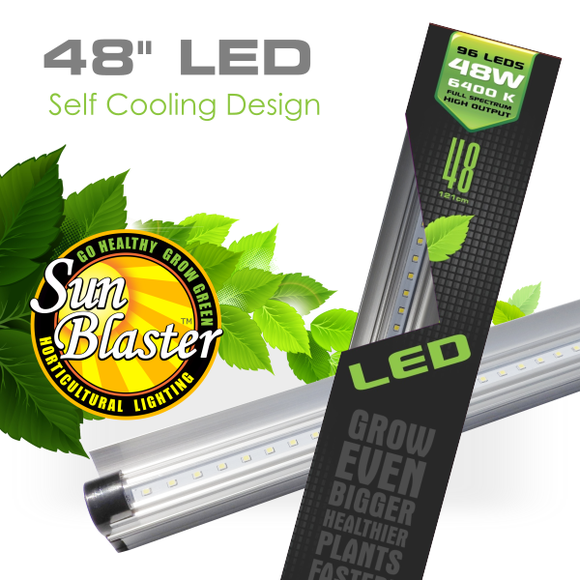 Sunblaster High Output LED Grow Light 4' 48W 6400K