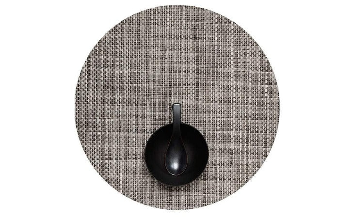Chilewich Round Basketweave Table Mat Oyster