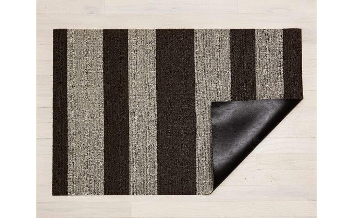 "Chilewich Bold Stripe Shag Mat Pebble 24""x36"""