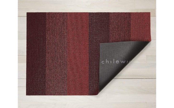"Chilewich Marbled Stripe Shag Mat Ruby 24""x36"""