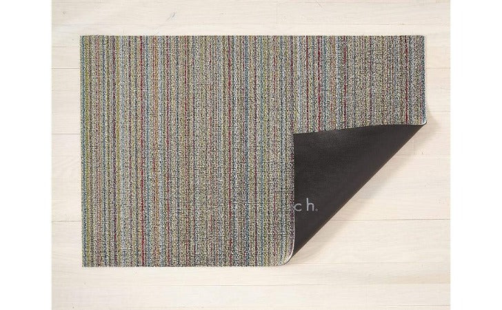 "Chilewich Skinny Stripe Shag Mat Soft Multi 24""x36"""