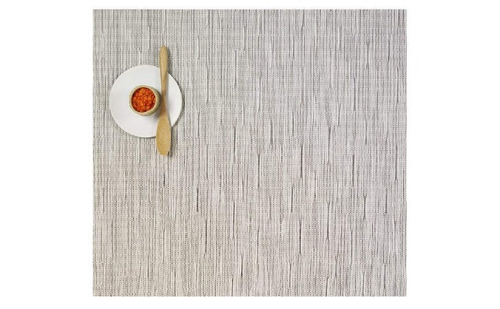 Chilewich Square Bamboo Table Mat Chalk