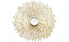 Chilewich Round Bloom Table Mat Gilded