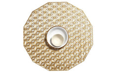 Chilewich Round Kaleidoscope Table Mat Brass