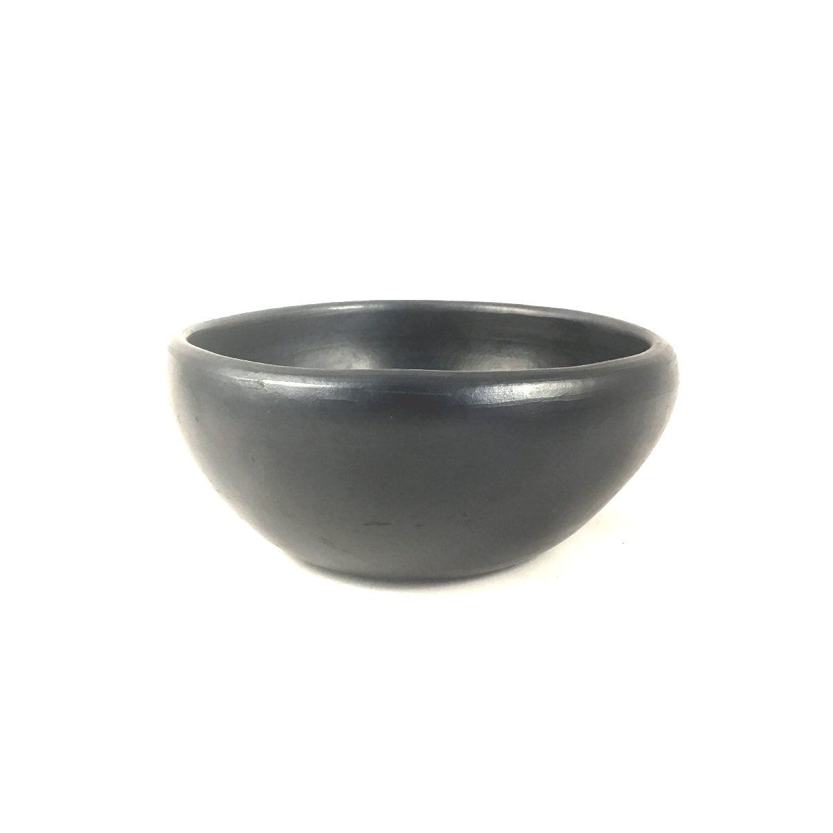 Black pottery - bowl zwart L