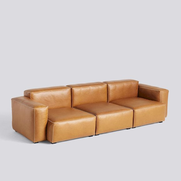 Sofa mags soft, low armrest - 3 seater combination 1, leer Silk SIL0250