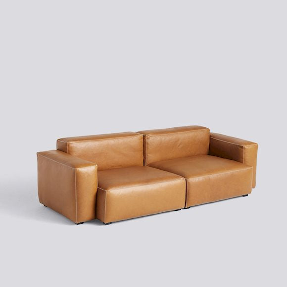 Sofa mags soft, low armrest - 2,5 seater combination 1, leer Silk SIL0250
