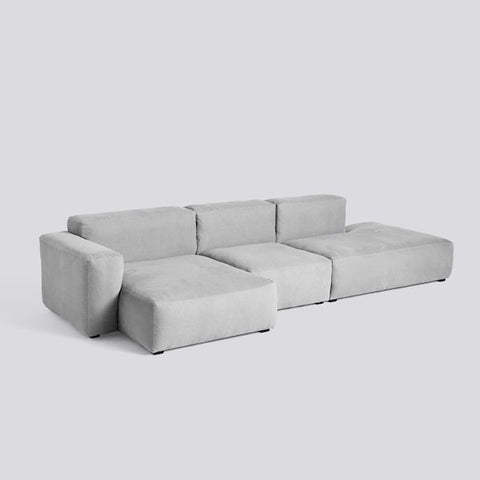 Sofa mags soft, low armrest - 3 seater combination 4, stof Linara 443