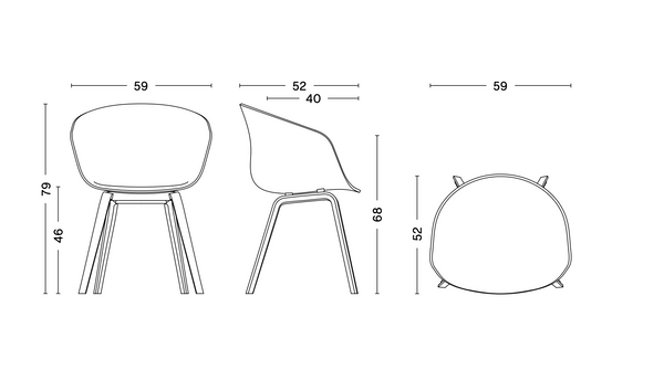 About a chair / AAC22 - zwart onderstel