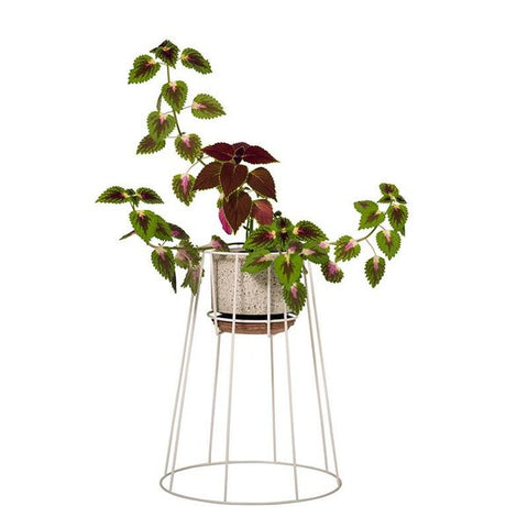 Cibele plantenstaander - wit - medium